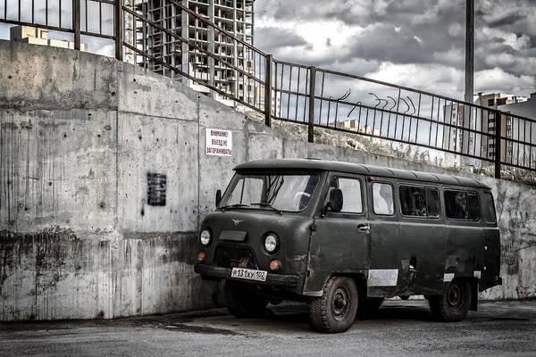 Photograph - Russian Retro Uaz Natural Drive Vehicle by John Williams