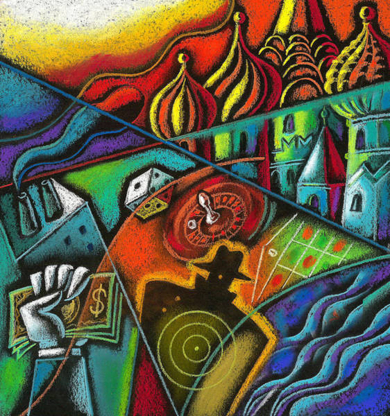 Russian River Painting - Russian Roulette   by Leon Zernitsky