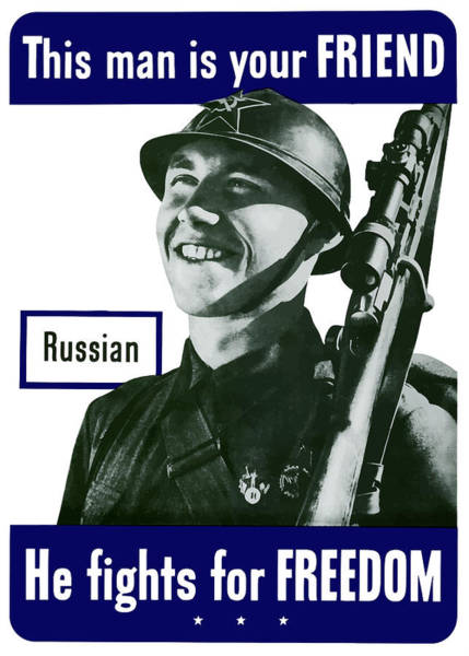 Russia Wall Art - Painting - Russian - This Man Is Your Friend by War Is Hell Store