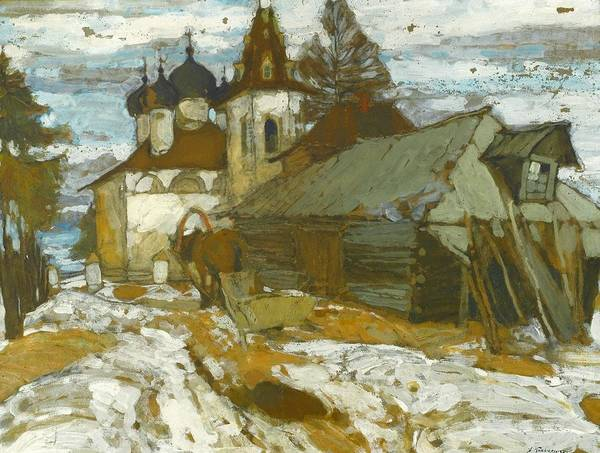 Engels Painting - Russian Village In The Winter by MotionAge Designs
