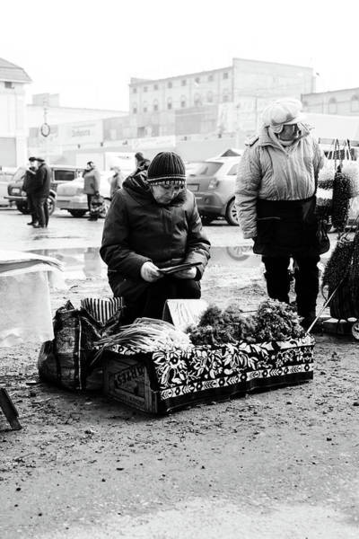 Photograph - Russian Women Selling Herbs And Onions by John Williams
