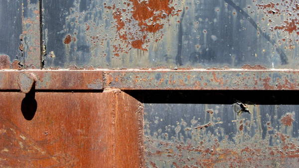 Photograph - Rust And Blue 1 by Anita Burgermeister