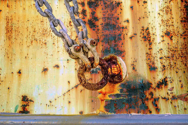 Photograph - Rust And Chain by Bill Posner