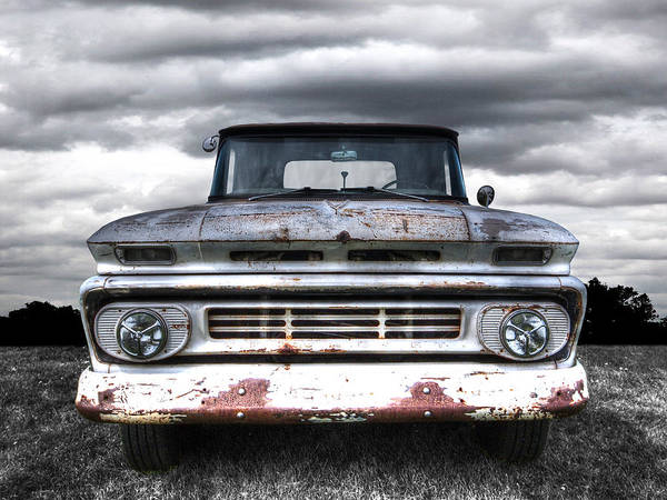 Photograph - Rust And Proud - 62 Chevy Fleetside by Gill Billington