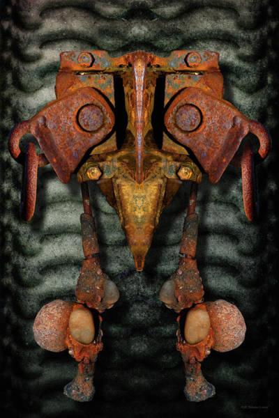 Voodoo Digital Art - Rust Bone Totem by WB Johnston
