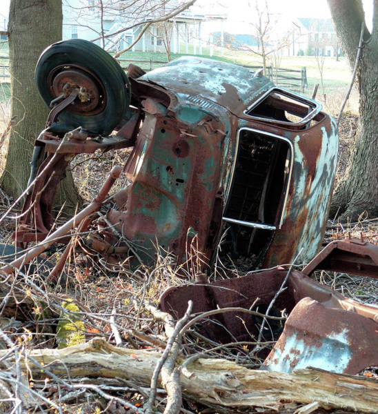 Wall Art - Photograph - Rusted Abandoned Pickup Truck by William Kuta