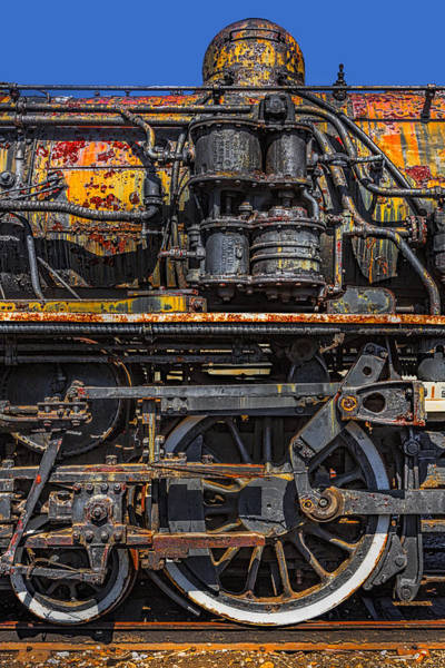 Canadian National Railway Photograph - Rusted Cnr Number 47 Train by Susan Candelario
