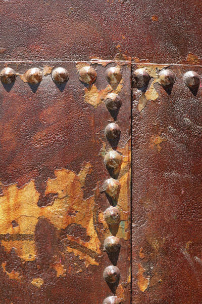 Photograph - Rusted Rivets by Cate Franklyn