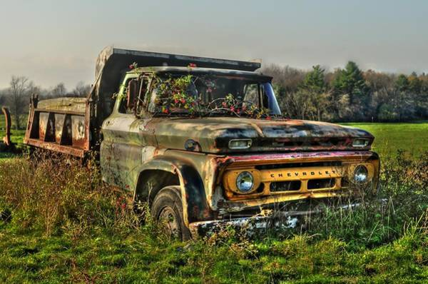 Dump Truck Photograph - Rusted Routes by Eric Belleville