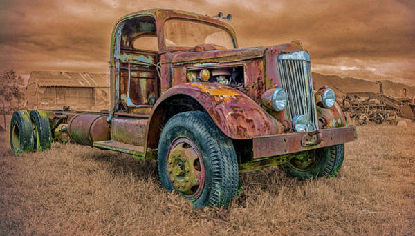 Photograph - Rusted Truck by Bill Posner