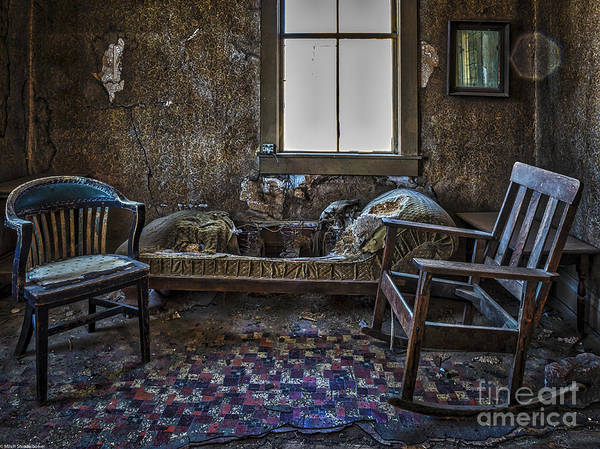Rustic Furniture Photograph - Rustic Accommodations by Mitch Shindelbower