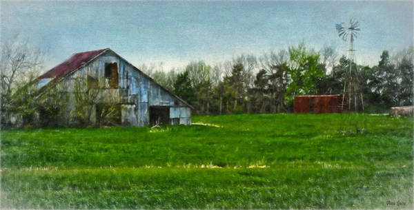 Photograph - Rustic Barn And Windmill by Anna Louise