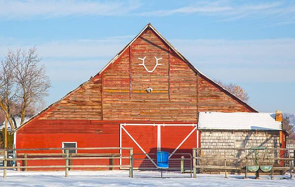 Photograph - Rustic Barn In Idaho by Dart Humeston