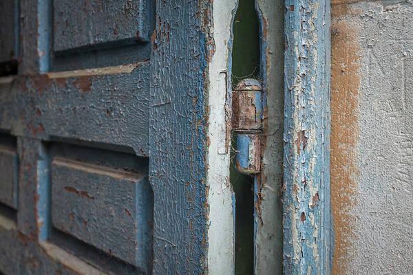 Photograph - Rustic Blue Door Close Up by Georgia Fowler