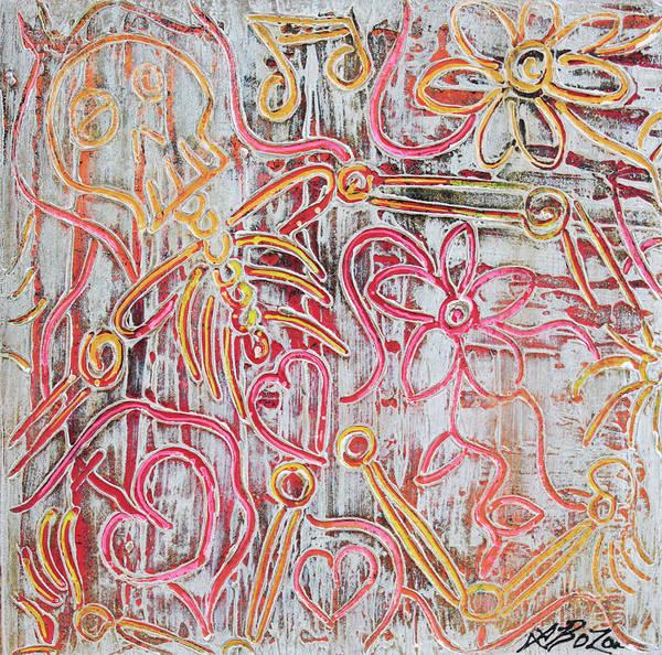 Wall Art - Painting - Rustic Bones by Laura Barbosa