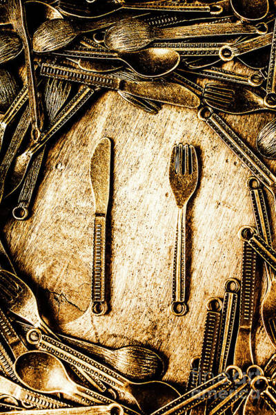 Kitchen Utensil Photograph - Rustic Catering by Jorgo Photography - Wall Art Gallery