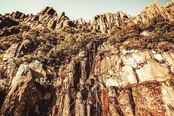 Rock Formation Photograph - Rustic Cliff Spring by Jorgo Photography - Wall Art Gallery