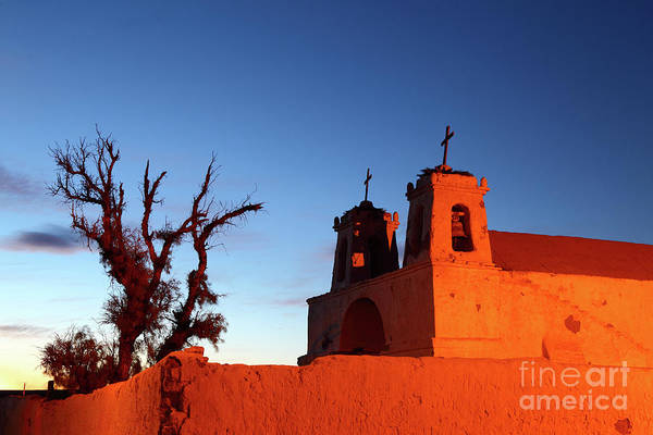 Photograph - Rustic Colonial Church At Chiu Chiu Chile by James Brunker