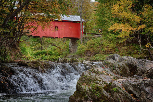 Photograph - Rustic Covered Bridge by Jeff Folger