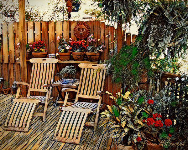 Digital Art - Rustic Deck by Pennie McCracken