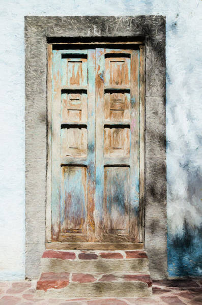 Photograph - Rustic Door In San Miguel De Allende by Rob Huntley