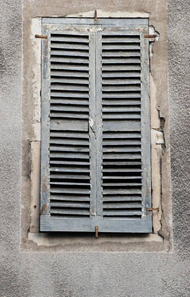 Photograph - Rustic French Window Shutters Vignette by Jani Freimann