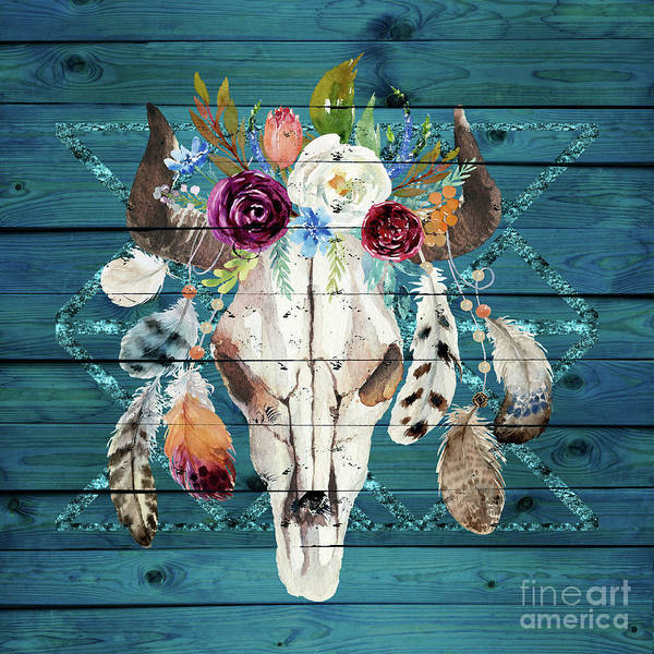 Wall Art - Painting - Southwestern Art Rustic Glam Boho Chic by Tina Lavoie