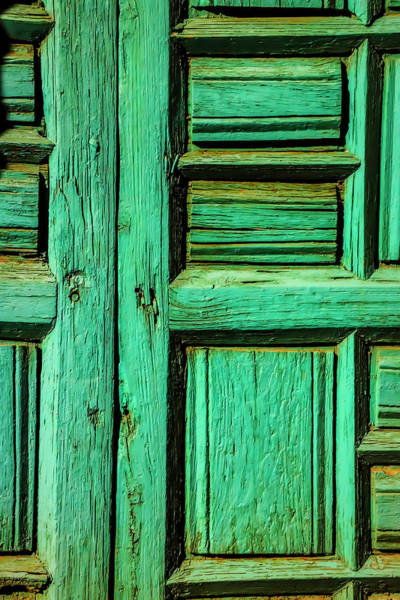 Wall Art - Photograph - Rustic Green Door by Garry Gay