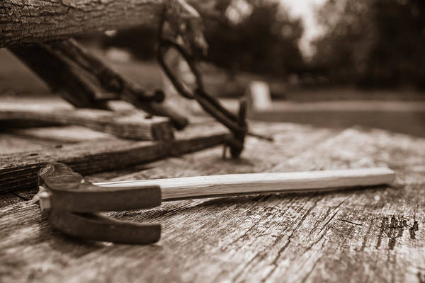 Photograph - Rustic Hammer  by Chris Bordeleau