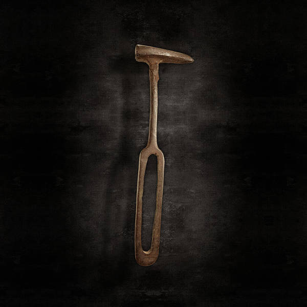 Wall Art - Photograph - Rustic Hammer On Black by YoPedro