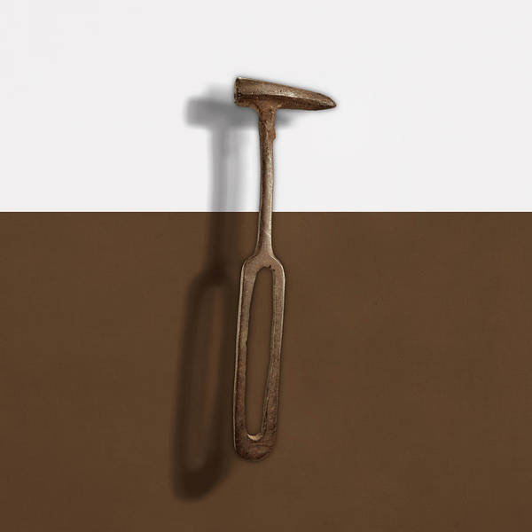Wall Art - Photograph - Rustic Hammer On Color Paper by YoPedro