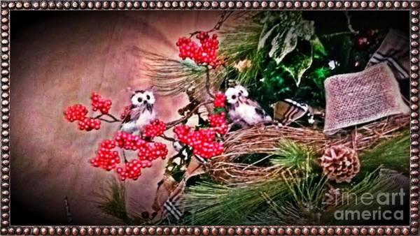 Photograph - Rustic Holiday Greetings by Rachel Hannah