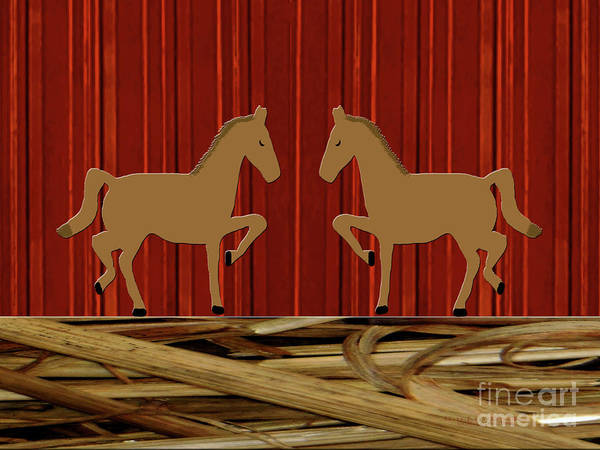 Photograph - Rustic Horses by Rockin Docks Deluxephotos