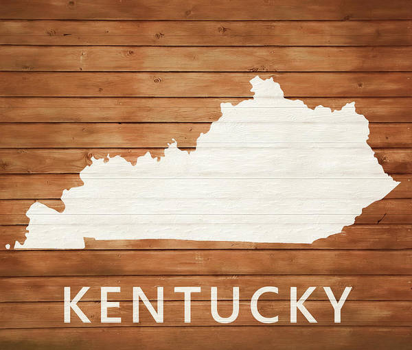 Mixed Media - Rustic Kentucky Map On Wood by Dan Sproul