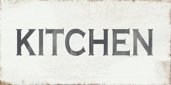 Signs Painting - Rustic Kitchen Sign- Art By Linda Woods by Linda Woods