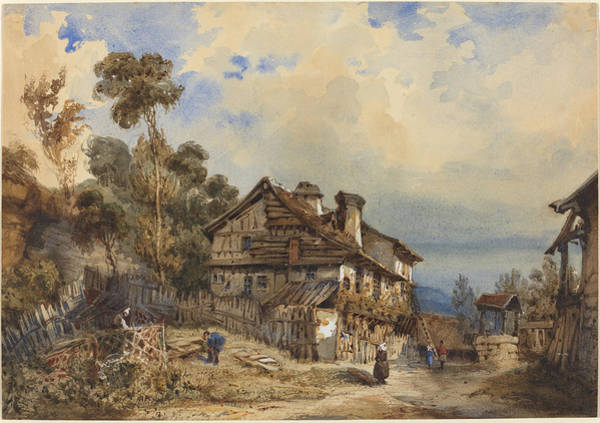 Wall Art - Drawing - Rustic Landscape by French 19th Century