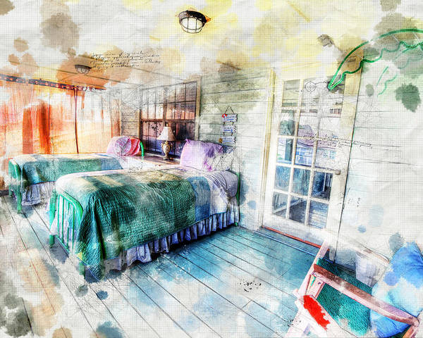 Digital Art - Rustic Look Bedroom by Anthony Murphy