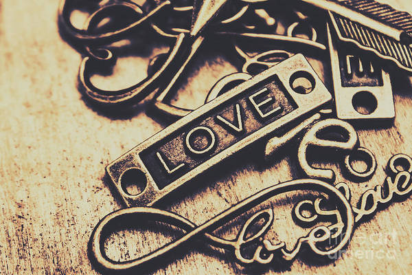 Rustic Love Icons Art Print