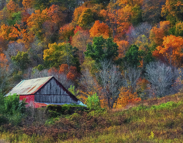 Photograph - Rustic Out Building In Southern Ohio  by Richard Kopchock