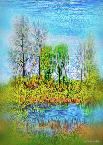 Digital Art - Rustic Pond Morning by Joel Bruce Wallach