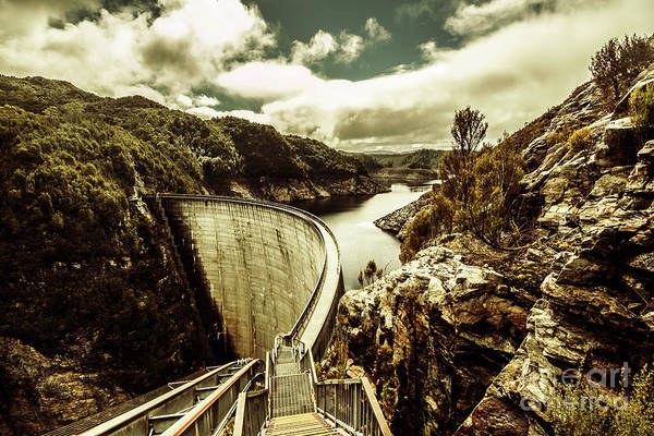 Dam Wall Art - Photograph - Rustic Rural Water Architecture by Jorgo Photography - Wall Art Gallery