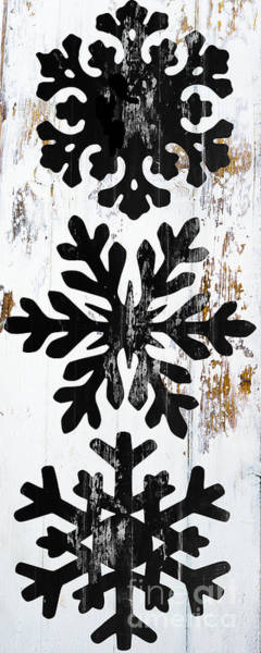 Wall Art - Painting - Rustic Snowflakes by Mindy Sommers