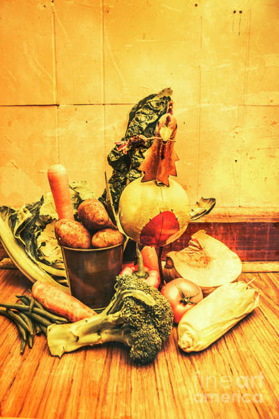 Foodstuff Photograph - Rustic Vegetable Decor by Jorgo Photography - Wall Art Gallery
