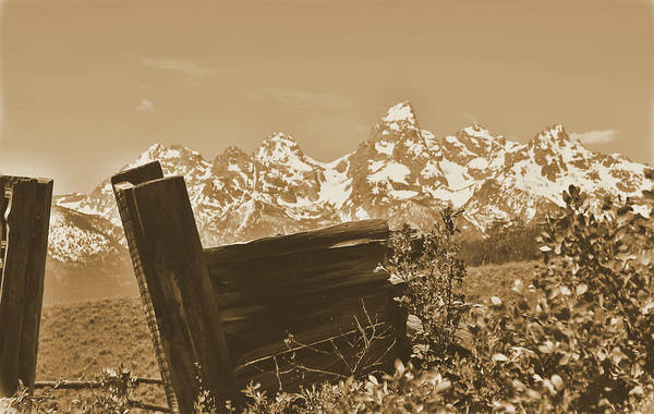 Photograph - Rustic View Of Grand Teton by Dan Sproul