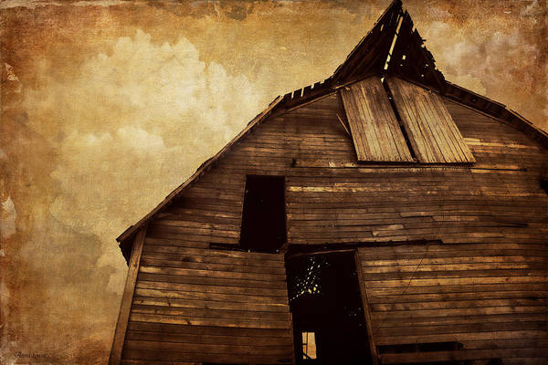 Photograph - Rustic Vintage Barn Overview by Anna Louise