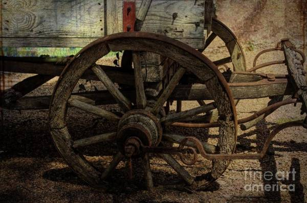 Photograph - Rustic Wagon Wheel by Luther Fine Art