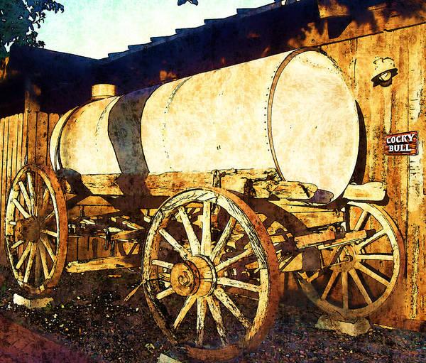 Wagon Wheel Photograph - Rustic Warrior by Glenn McCarthy Art and Photography