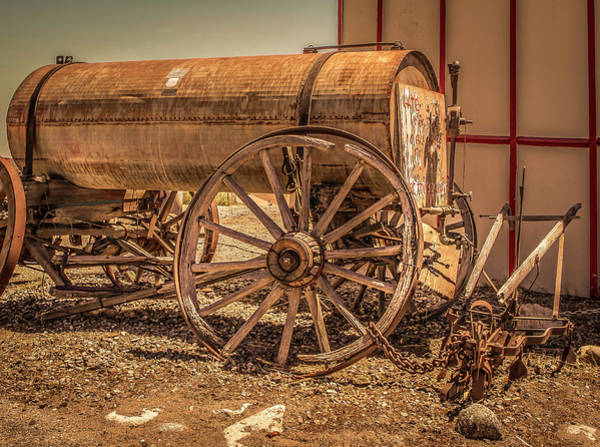 Photograph - Rustic Water Wagon And Plow by Gene Parks