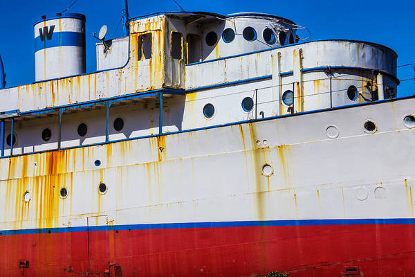 Dry Dock Photograph - Rusting Cruise Liner by Garry Gay