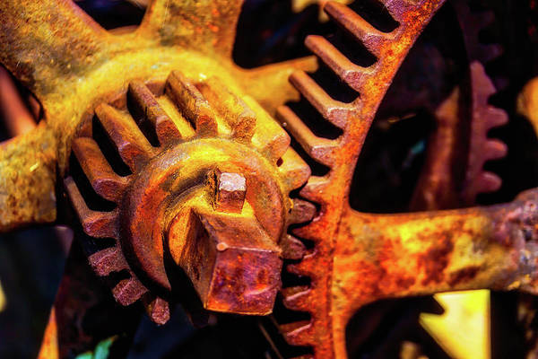 Deterioration Photograph - Rusting Train Yard Gear by Garry Gay